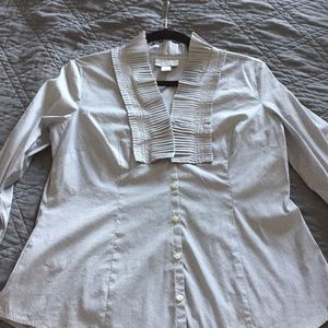 Loft Size 10 Black and White Button Up.